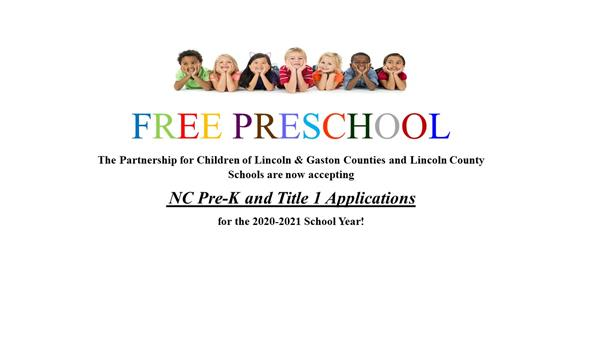 Pre-K and Title 1 Applications