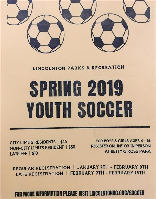 flyer of spring soccer