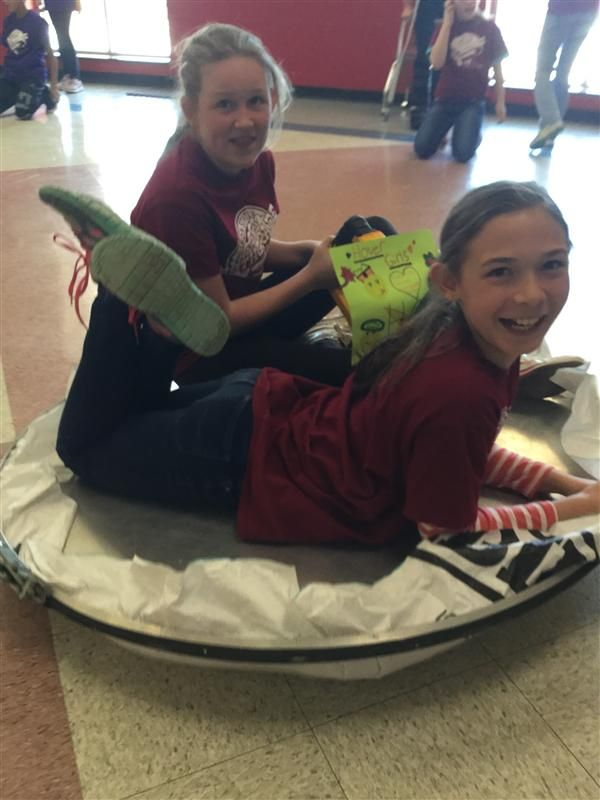 Fifth Grade Floats on Hovercrafts