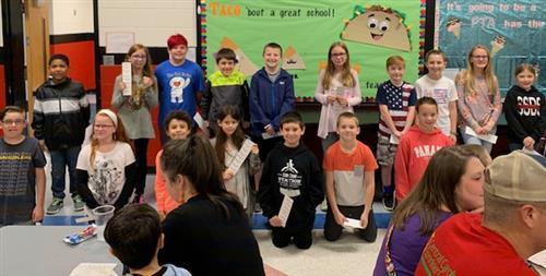 Fifth grade Conductor's Club students pose for a picture.