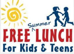 Image of kids and picture reads Free Summer Lunches