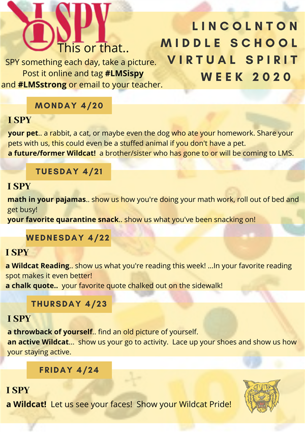 LMS Virtual Spirit Week