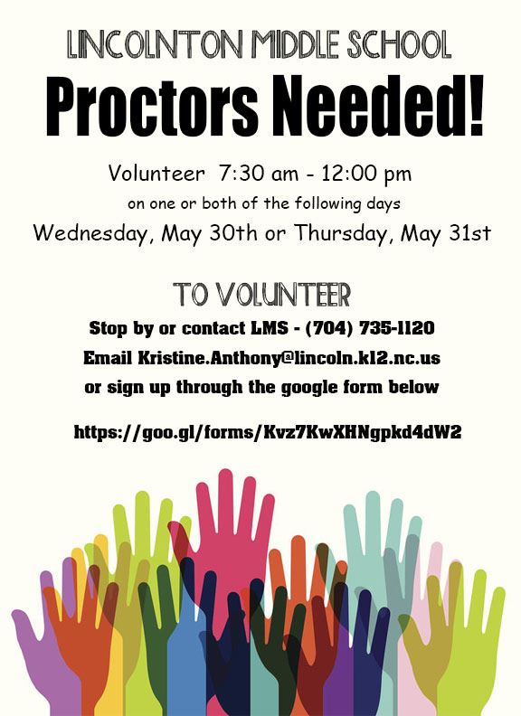 EOG Proctors Needed