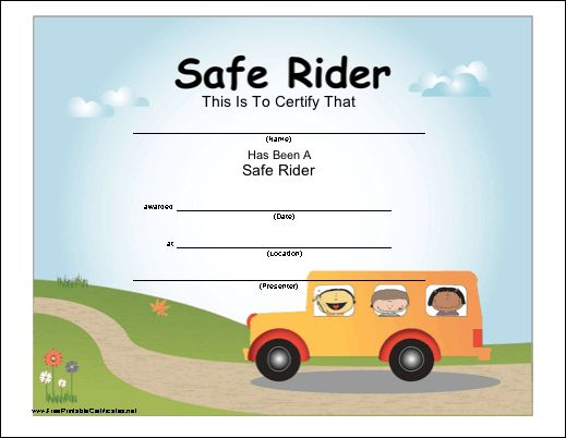 Monthly Safe Bus Riders