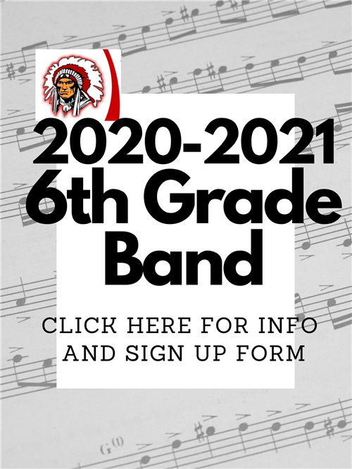 6th gr Band sign ups