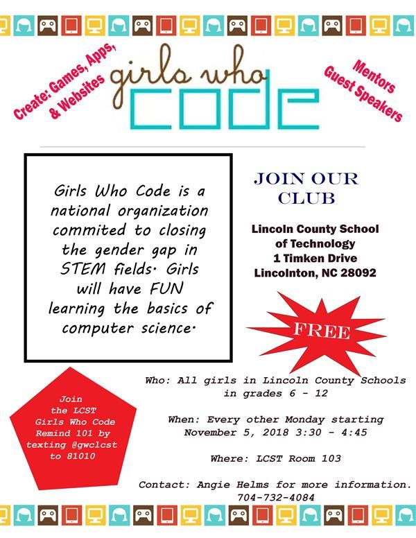 Girls Who Code club coming soon to LCST