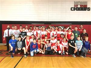WLMS wrestling wins conference championship