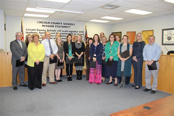 Principals Recognized at 11/7/17 Board of Education Meeting for Being Among Top 50% in Student Growth for 2016-17 School Year