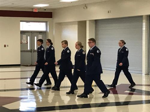 Lincolnton AFJROTC Drill Team Competes in the 4th Annual Bears Drill Competition at Bunker Hill