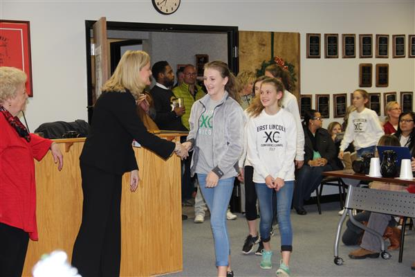 Middle School Tri-County Conference Champions Recognized at 12/12/17 Board of Education Meeting