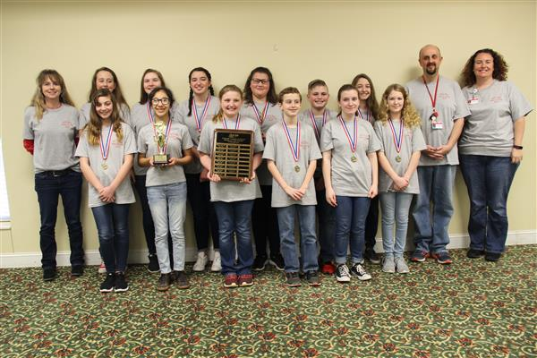 West Lincoln Middle School Wins the MS Battle of the Books Competition