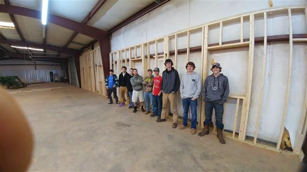 Construction students helping build IT offices for LCS