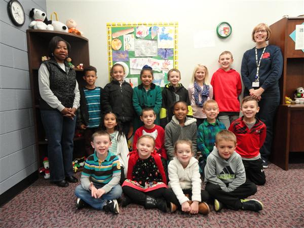 December Caught You Being Good Students with Principal Robinson and Guidance Counselor Mrs. Brethen